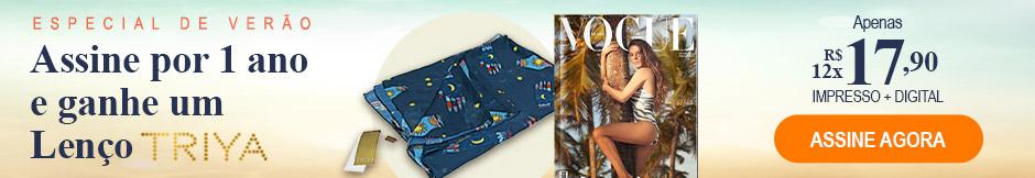 Assine Vogue e ganhe um Lenço Triya