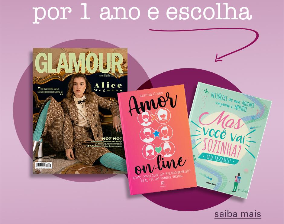 Assine Glamour e escolha um livro