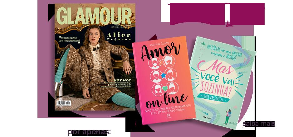 Assine Glamour e escolha 1 livro