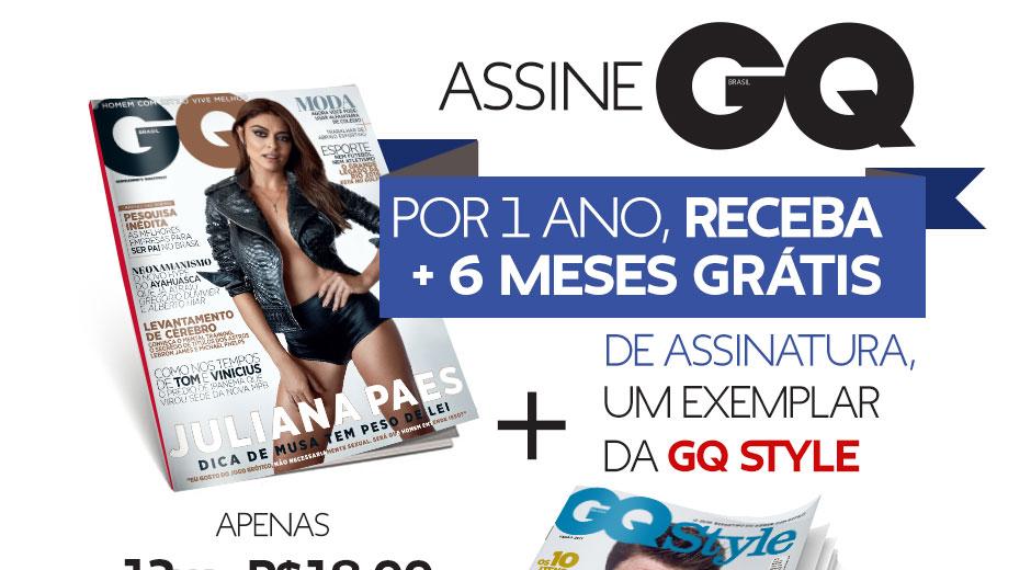 Assine GQ por 1 ano + 6 meses grátis de assinatura + exemplar da GQ Style