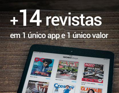 + 14 revistas em 1 único app e 1 único valor.