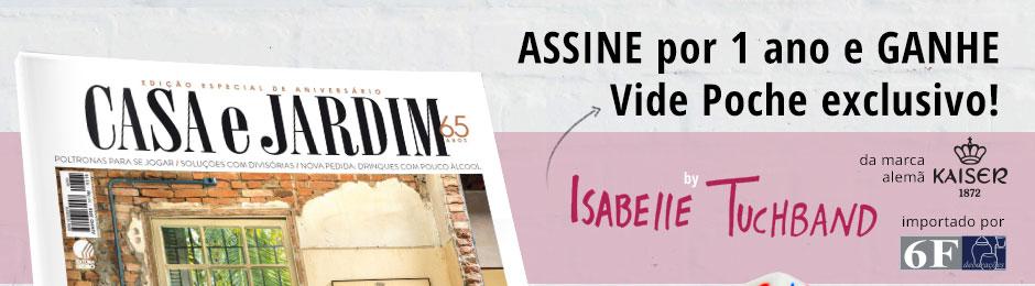 Assine por 1 ano e ganhe Vide Poche exclusivo by Isabelle Tuchband, da marca KAISER, inportada por 6f