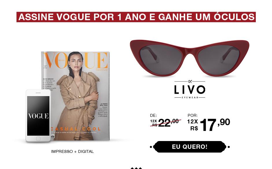 Assine Vogue por 1 ano e ganhe um óculos