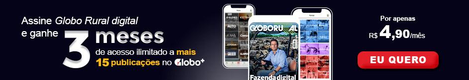 Globo Rural digital: onde e quando quiser por apenas R$4,90/mês