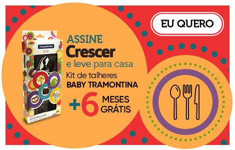 Assine Crescer e ganhe um kit de talheres infantis da Tramontina